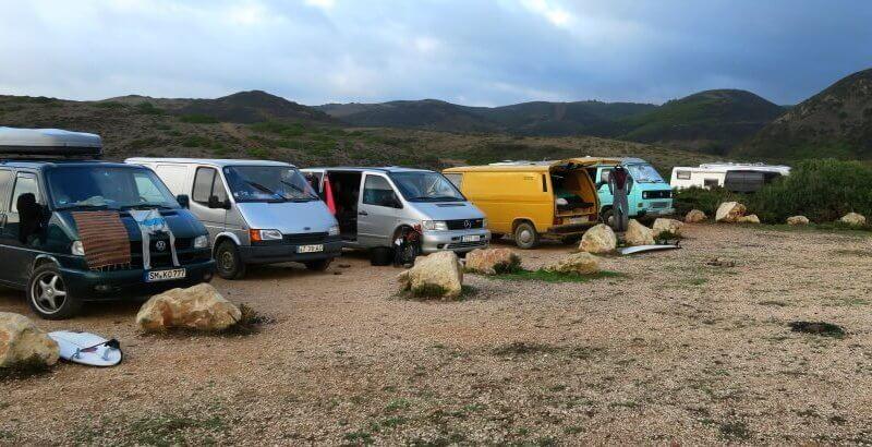 Die Costa Vicentina von wilden Campern belagert