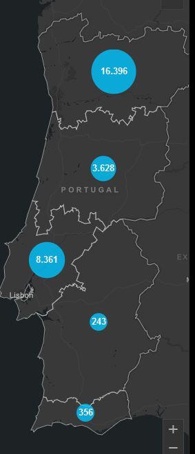 18. Mai, Corona Karte Portugal