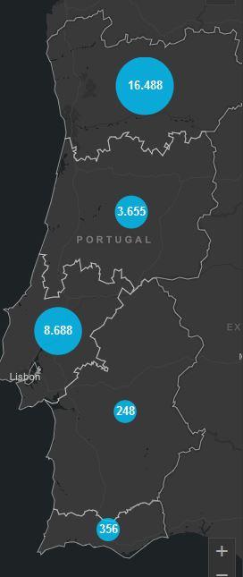 20. Mai, Corona Karte Portugal
