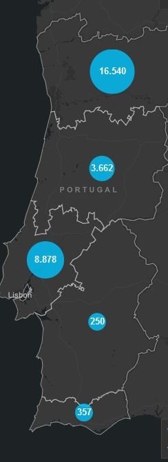 21. Mai, Corona Karte Portugal