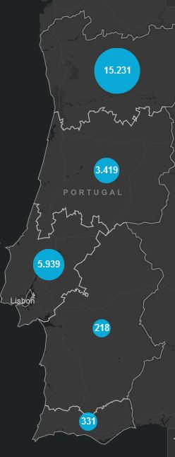 01. Mai, Corona Karte Portugal