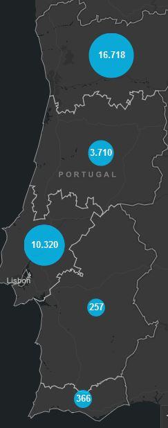 28. Mai, Corona Karte Portugal