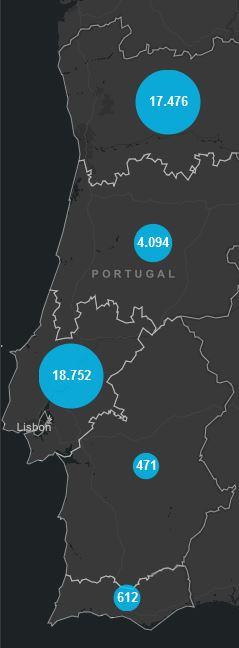 28. Juni, Corona Karte Portugal