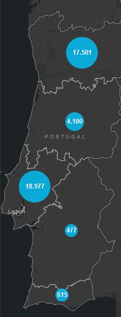 29. Juni, Corona Karte Portugal