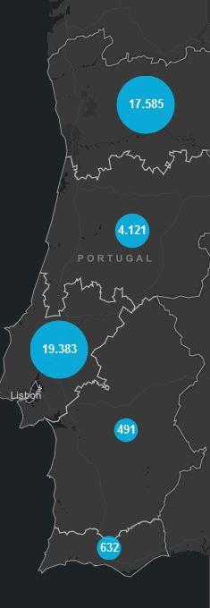 01. Juli, Corona Karte Portugal