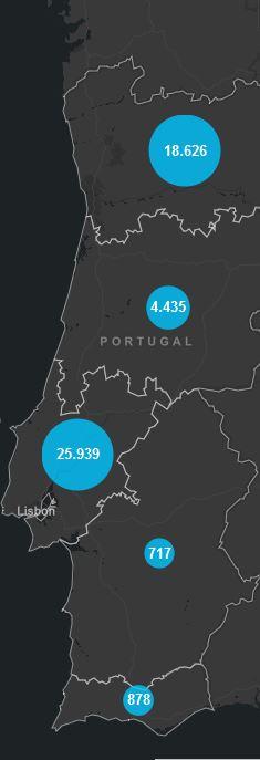30. Juli, Corona Karte Portugal