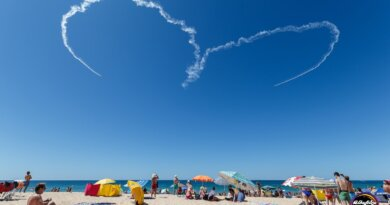 Luftakrobatik über Albufeira