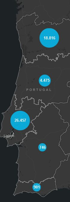 05. August, Corona Karte Portugal