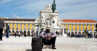 Tourist in Lissabon