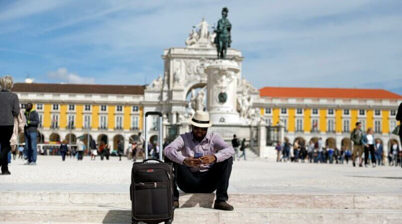 Tourist in Lissabon