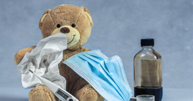 Teddy mit Maske