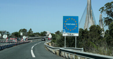 Grenze nach Portugal