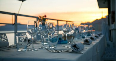 Tisch mit Aussicht