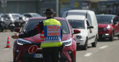 Polizei in Lissabon