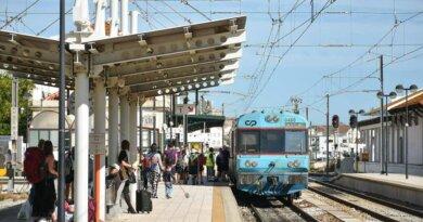 Zugstrecke der Algarve